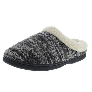 Dearfoams Womens Wool Blend Memory Foam Scuff Slippers - 7-8 medium (b,m)