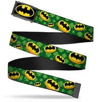 Batman Fcg Black Yellow Chrome Bat Shield Coins Clovers Green Gold Web Belt