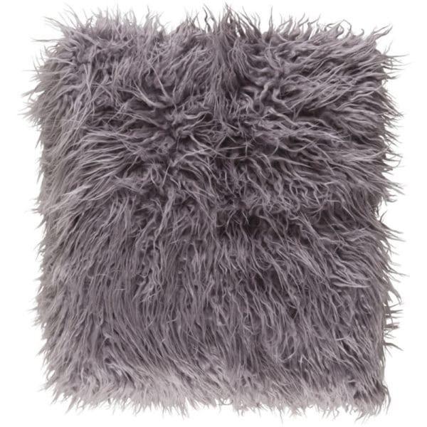 """Kharaa Ash Gray Warm and Cozy Long Shag Throw Blanket 50"""" x 60"""""""