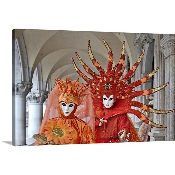 """Venetian Carnival Masks, Italy"" Canvas Wall Art"