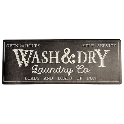 """Farmhouse Living Rustic Laundry Co. Wash and Dry Anti Fatigue Mat - 18""""x48"""""""