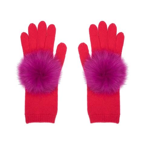 Eugenia Kim Sloan Gloves With Fur Pom