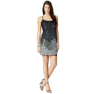Adrianna Papell Bead Embellished Sleeveless Bodycon Cocktail Mini Dress - 4