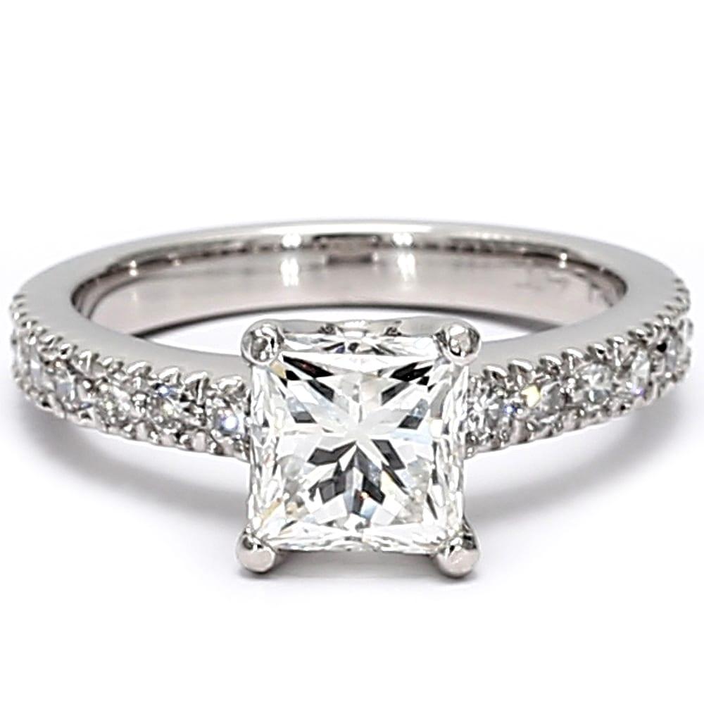 Vs 2 38ct Certified Princess Cut Diamond Platinum Engagement Ring On Sale Overstock 31910077