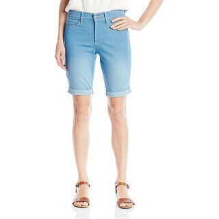NYDJ Briella Roll Cuff Jean Short, Palm Bay, 12 Petite