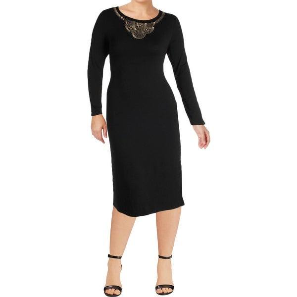 0def907f2b Shop Vince Camuto Womens Maxi Dress Scoop Neck Solid - xL - Free Shipping  On Orders Over  45 - Overstock - 22411953
