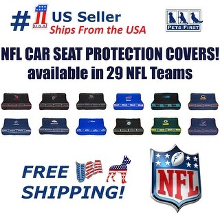 NFL Premium Car Seat Protecting Cover, Durable, Waterproof, Fits most Car Rear Seats