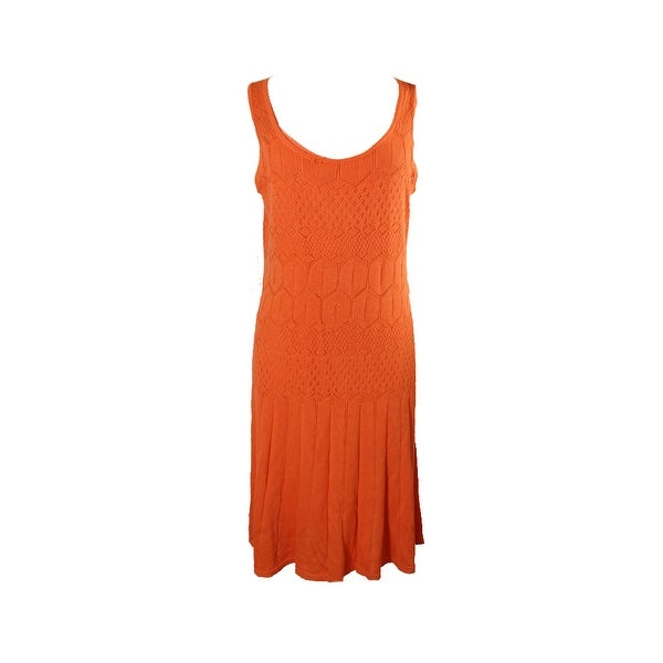 39ab566583 Shop Lauren Ralph Lauren Orange Drop-Waist Sweater Dress M - Free ...