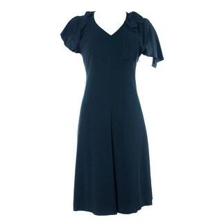 Valentino Women's Black Classic Mid Length Dress
