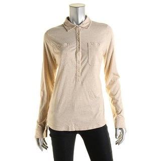 LRL Lauren Jeans Co. Womens Henley Collar Pullover Top - L