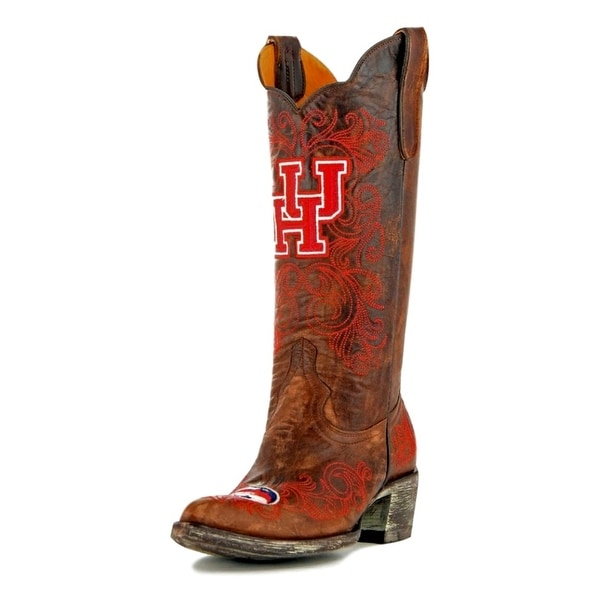 Gameday Boots Womens College Team Houston Cougars Brass