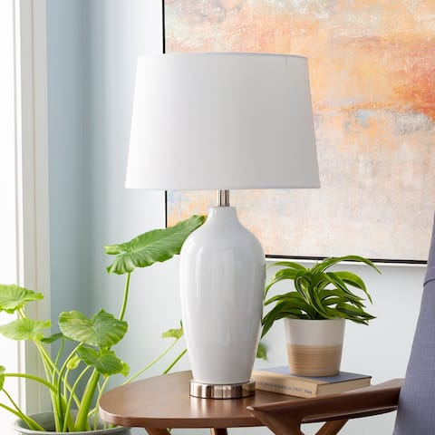 Dominique Traditional Glazed Ceramic 27-inch Table Lamp