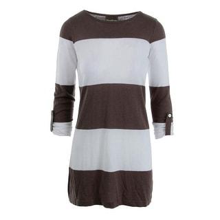 Tommy Bahama Womens Bold Stripe Boat Neck Tunic Sweater