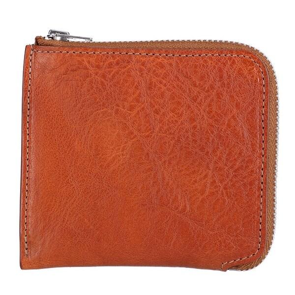 The British Belt Company Italian Leather Zip-Around Wallet - One size
