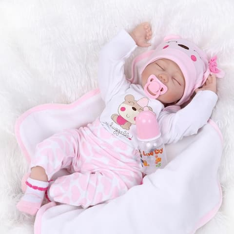 "22"" Mini Cute Simulation Baby Toy in Hippo Pattern Clothes"