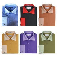 Men's Two Tone French Cuff Shirt