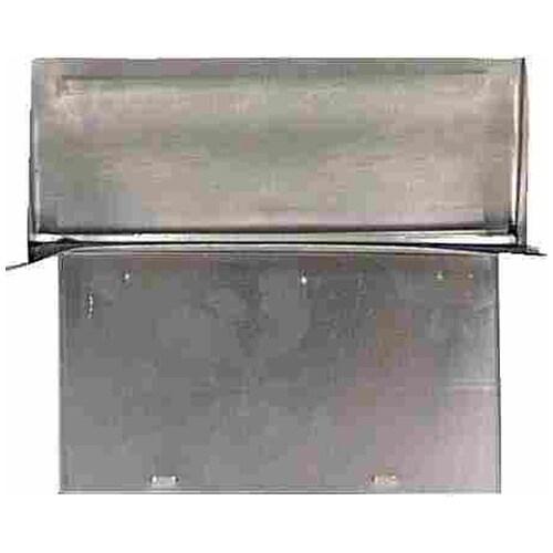 Deflect-O DAWC Aluminum Wall Cap, 3-1/2 x 10