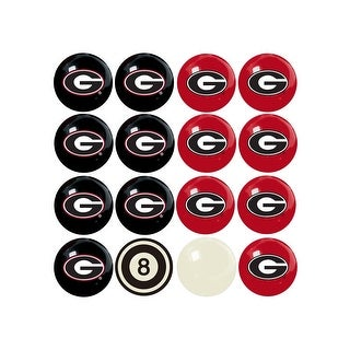 NCAA Georgia Bulldogs Billiard Balls Complete Set of 16 Balls