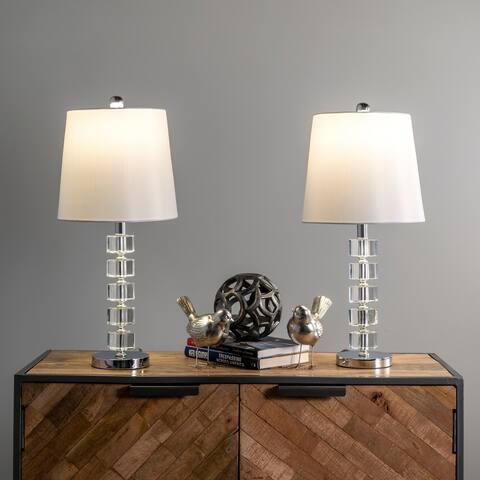 """nuLOOM Elkton 21"""" Crystal Table Lamp Set"""
