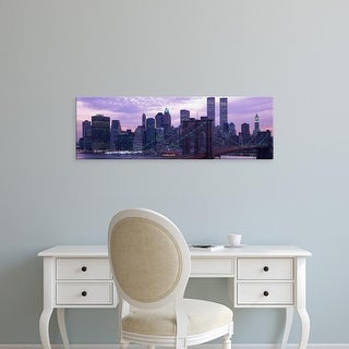 Easy Art Prints Panoramic Images's 'New York City skyline' Premium Canvas Art