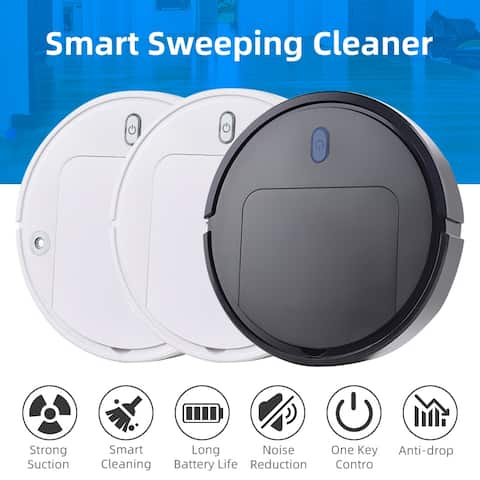Vacuum Cleaner Intelligent Sweeping Robot Household USB Electric Automatic Rechargeable Home Cleaning Machine,Black/White