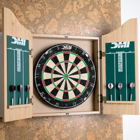 DMI Sports Deluxe Dartboard Cabinet Set / CABSETPL