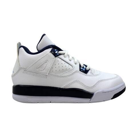 quality design 9c036 83096 Nike Air Jordan IV 4 Retro LS BP White Legend Blue-Midnight Navy Legend