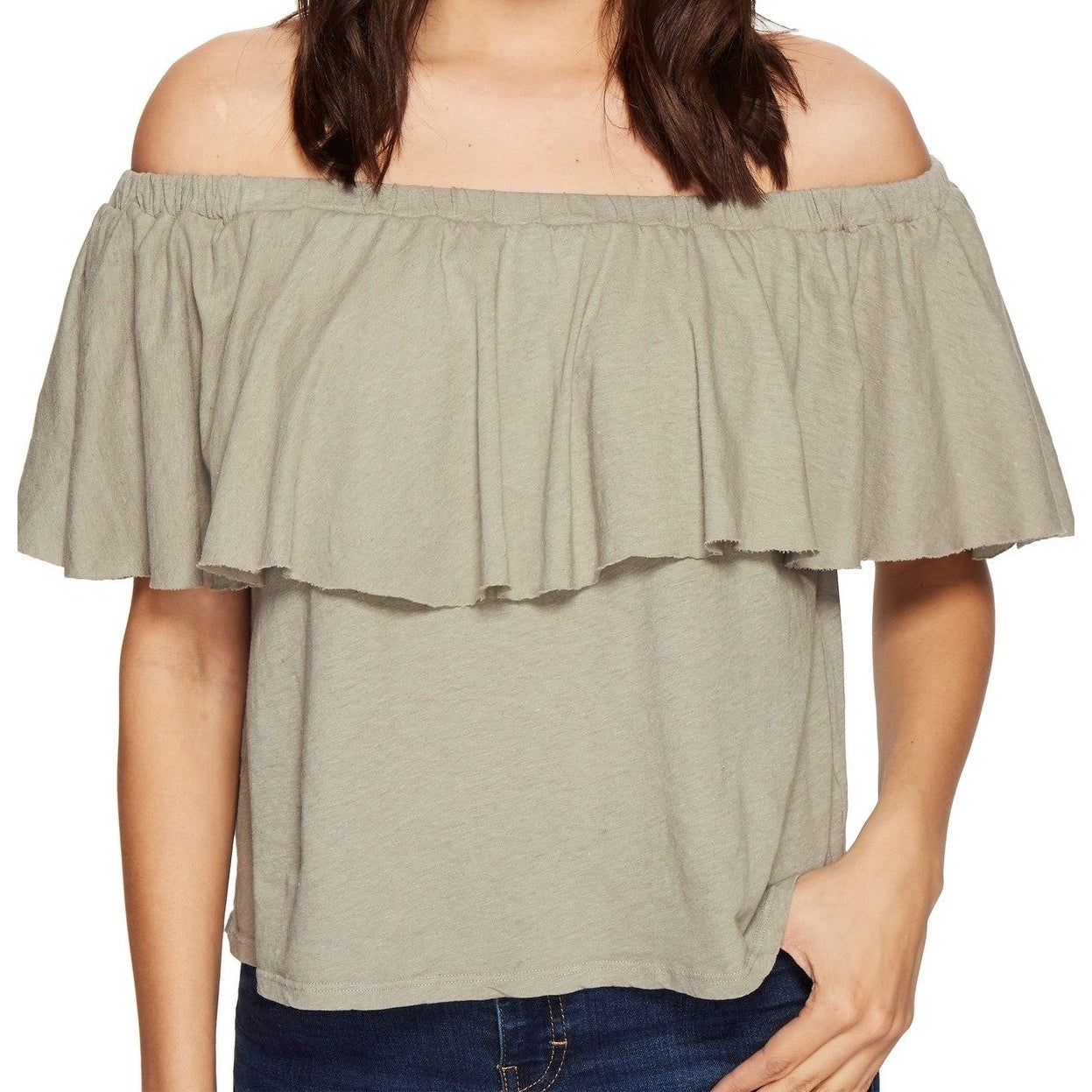 LAmade Womens Relax Fit Cold Shoulder Tee