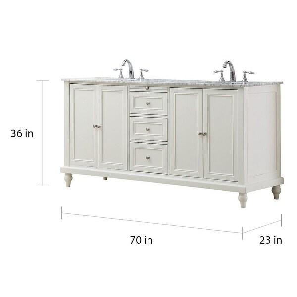 Direct Vanity Sink 70 in Classic Double Vanity Sink Cabinet