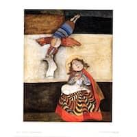 ''L'Annonciation'' by Graciela Rodo Boulanger Latino Art Print (23.5 x 19 in.)