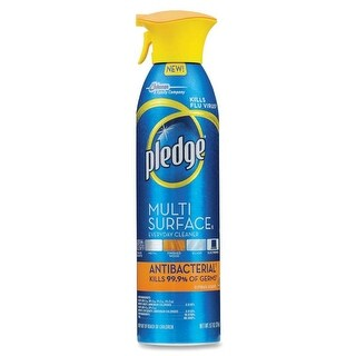 Pledge 72354 Multi Surface Antibacterial Cleaner, Citrus, 9.7 Oz.