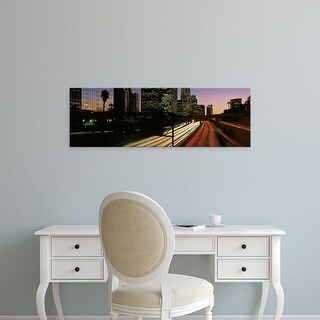 Easy Art Prints Panoramic Images's 'Harbor Freeway Los Angeles CA' Premium Canvas Art