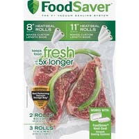 "Food Saver 5Ct 8&11"" Combo Roll Bag"