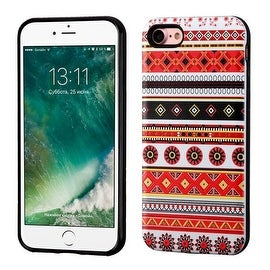Insten Red/ Black Totem Hard Snap-on Dual Layer Hybrid Case Cover For Apple iPhone 7