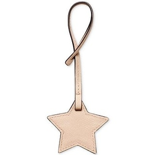 MICHAEL Michael Kors Medium Star Saffiano Leather Purse Charm, Ballet Pink Peach - One size