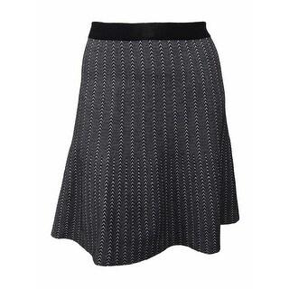 RACHEL Rachel Roy Women's Curvy Plus Fit & Flare Sweater Skirt (3X, Black/White) - BLACK/WHITE - 3x
