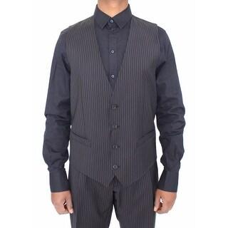 Dolce & Gabbana Dolce & Gabbana Gray Stretch Formal Dress Vest Gilet - it50-l
