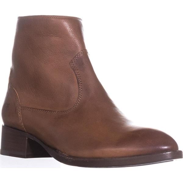 FRYE Brooke Short Ankle Boots, Cognac - 8.5 us