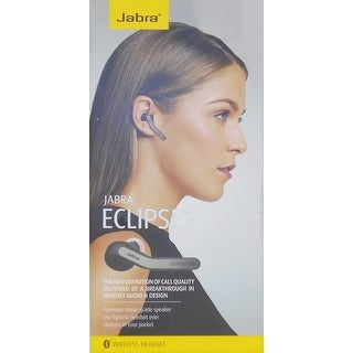 Jabra Eclipse Wireless Headset - Mono - Black - Wireless - Bluetooth - 98.4 ft - 16 Ohm - 20 Hz - 20-REFURBISHED