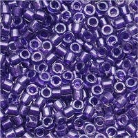 Miyuki Delica Seed Beads 11/0 Sparkle Purple Lined Crystal DB906 7.2 Grams