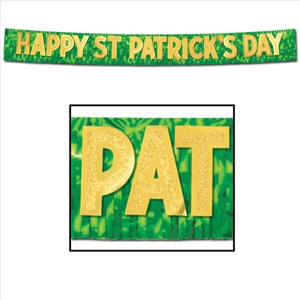 Happy St Patrick's Day Metallic Banner