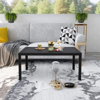 Maypex Outdoor Steel Slat Coffee Table