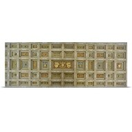 Poster Print entitled Details of the ceiling of a basilica, Basilica Of St Paul Outside The Walls, Rome, Italy