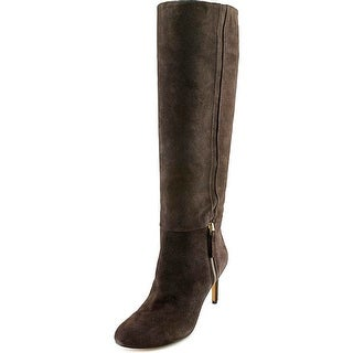 Nine West Vintage Women Round Toe Suede Brown Knee High Boot