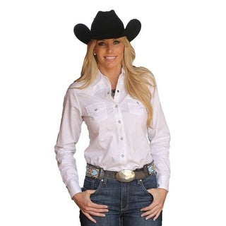 Miller Ranch Western Shirt Womens L/S Solid Jacquard White DSW4205003
