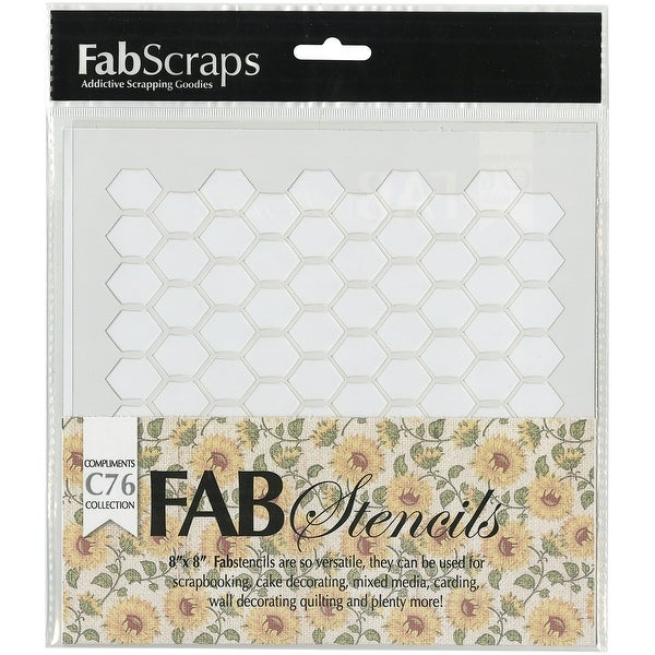 "FabScraps Plastic Stencil 8""X8""-Country Kitchen Chicken Wire"