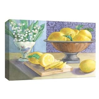 "PTM Images 9-153799  PTM Canvas Collection 8"" x 10"" - ""Fresh Lemon Slices"" Giclee Fruits & Vegetables Art Print on Canvas"