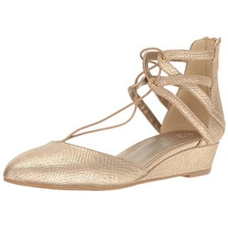 Kenneth Cole Reaction Womens Why Not Wedge Heels Faux Leather Snake Print - 6 medium (b,m)