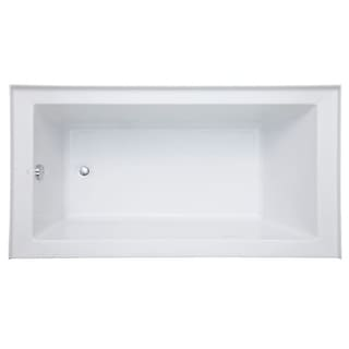 "Mirabelle MIRSKA6032L Sitka 60"" X 32"" Acrylic Air Bathtub for Three Wall Alcove Installations with Right Blower and Left Drain"
