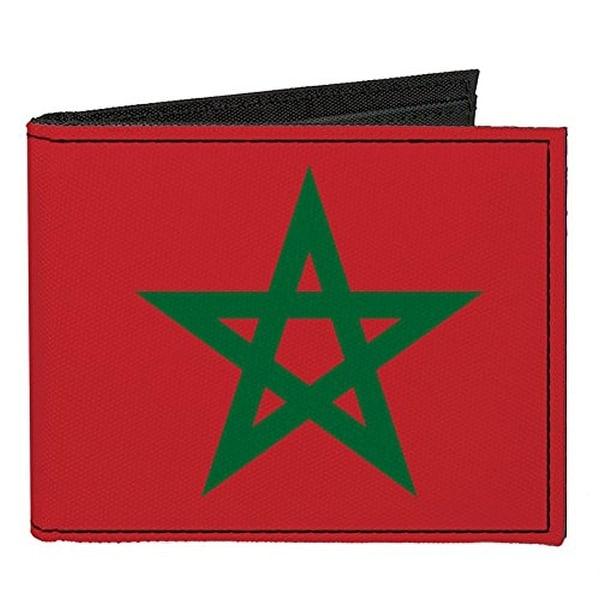 Buckle-Down Canvas Bi-fold Wallet - Morocco Flag Accessory